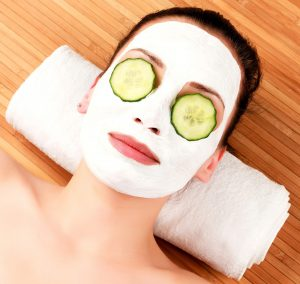Skin Deep, Facial, Salon, cucumber mask
