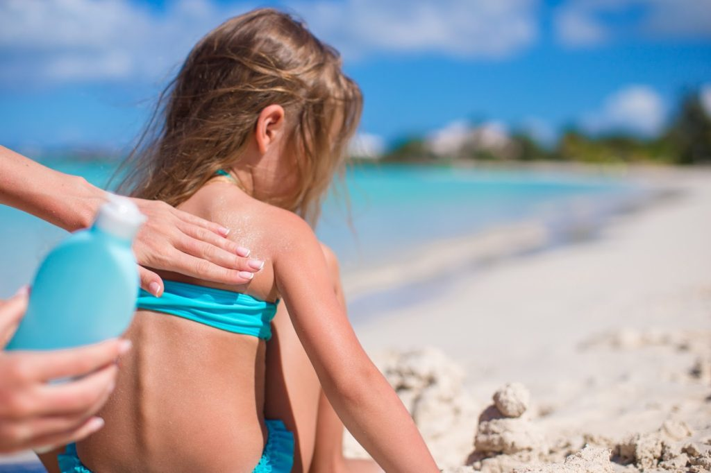 Sunscreen on sensitive skin, skin deep